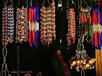 A display of beaded T'boli trinkets in Lake Sebu
