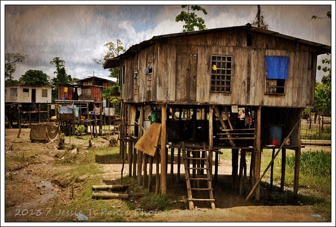 stilt houses along the fly river